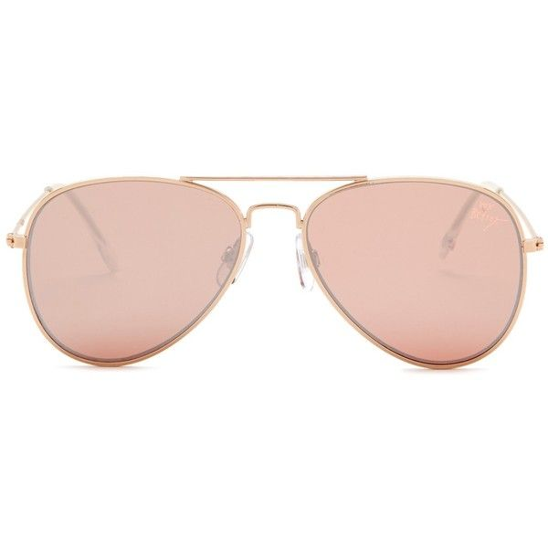 fad3fa26ed7 Betsey Johnson Women s Flat Aviator Sunglasses ( 20) ❤ liked on Polyvore  featuring accessories