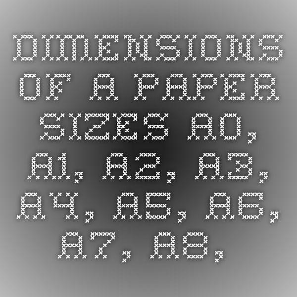 a9 paper size