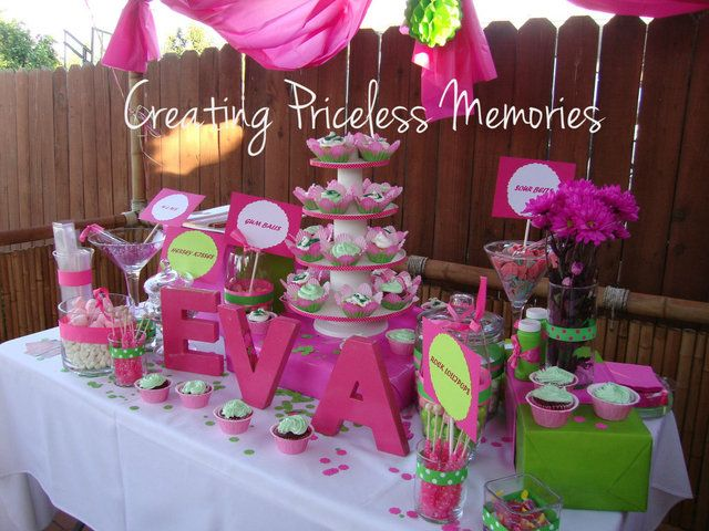 Glamourous Pink And Green Birthday Party Ideas Creative Ideas