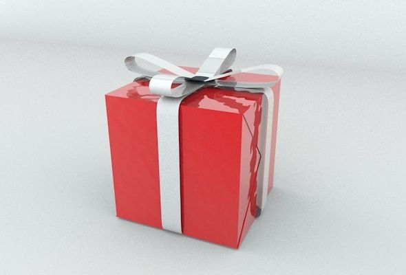 3docean christmas gift box 3d models products 1126289 animation