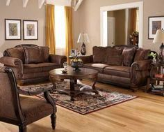 Choosing Tuscan Style Living Room Furniture And Interior Decoration Impressive Which Has Twin Dark Brown Leather Sofa