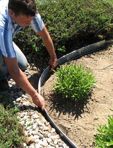 Metal Garden Edging Easyflex Aluminum Edging 24 Small Backyard Landscaping Metal Garden Edging Front Yard Landscaping