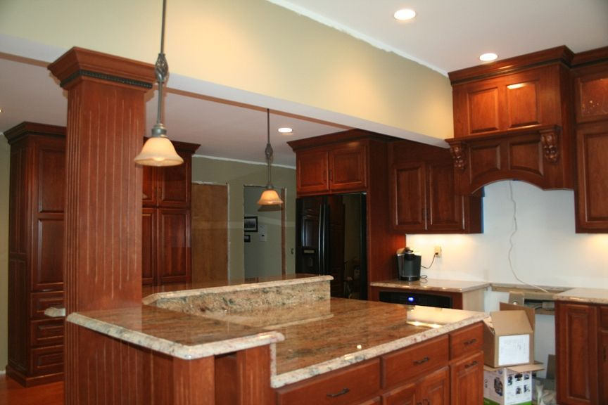 What Is A Kitchen Island kitchen island with support beams ideas | theresab - what on earth