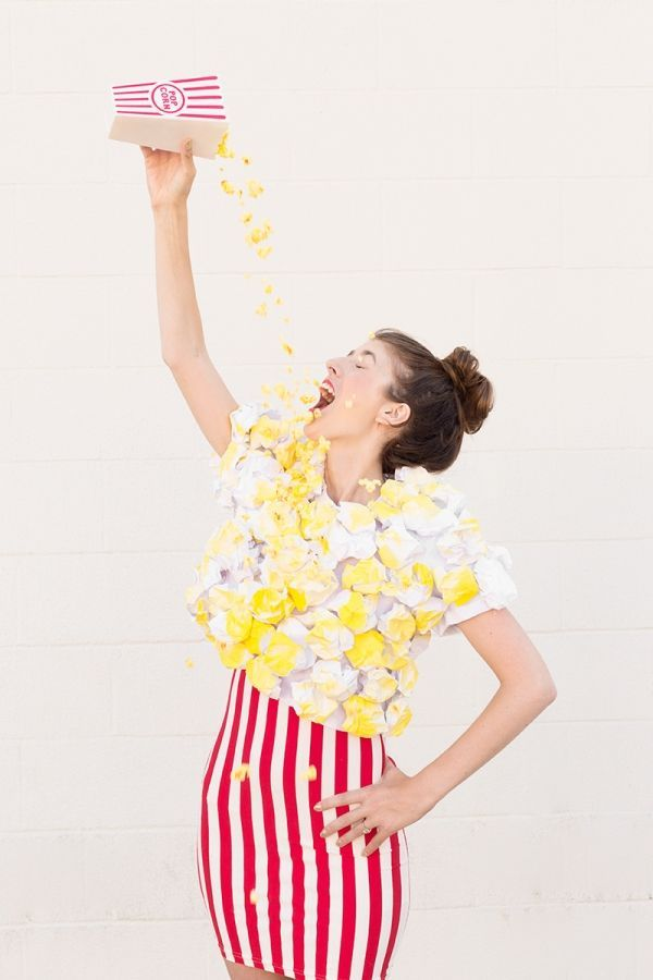 Image result for diy popcorn costume