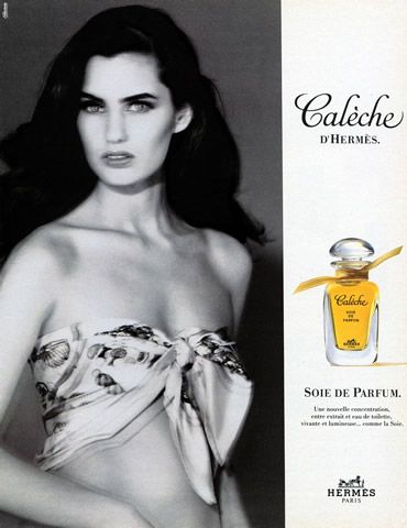 Hermes Perfumes 1992 Caleche, Scarf Vintage advert Perfumes | Hprints.com