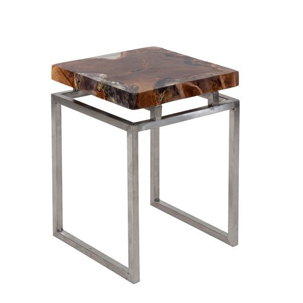 Uptown Icy Side Table Small   Console   Jeffan International