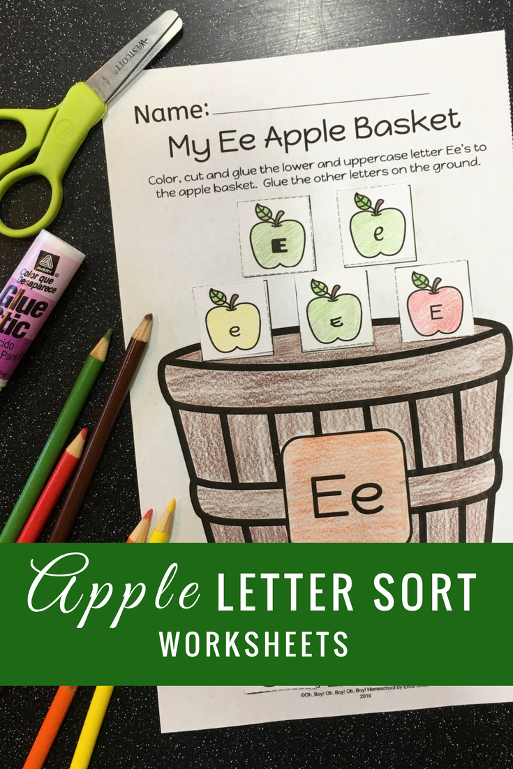 Apple Letter Sorting Worksheets | Worksheets, Kindergarten and Apples