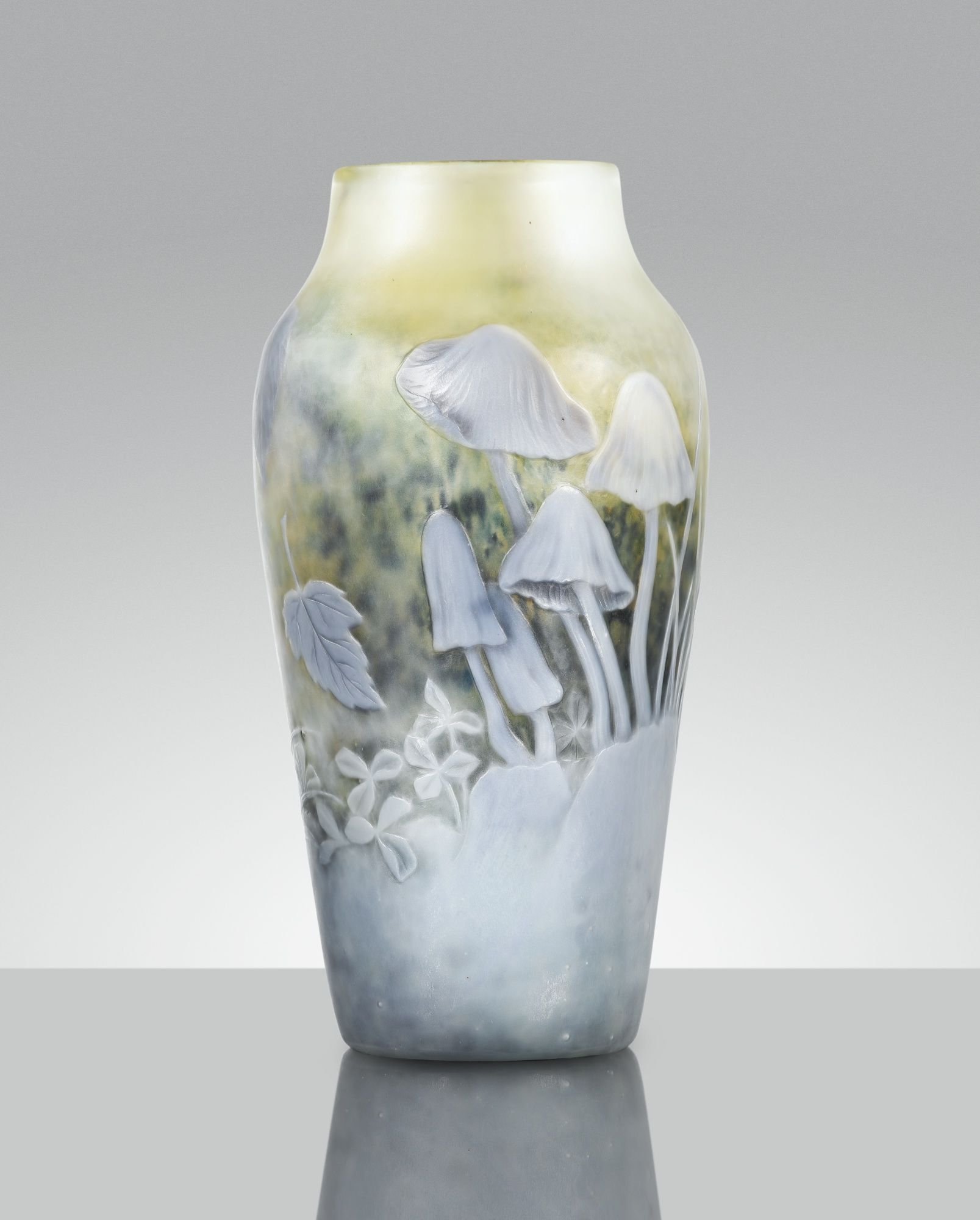 Emile Gall Vase Coprins, Vers 1898 1900 Coprins, An Internally Marqueterie