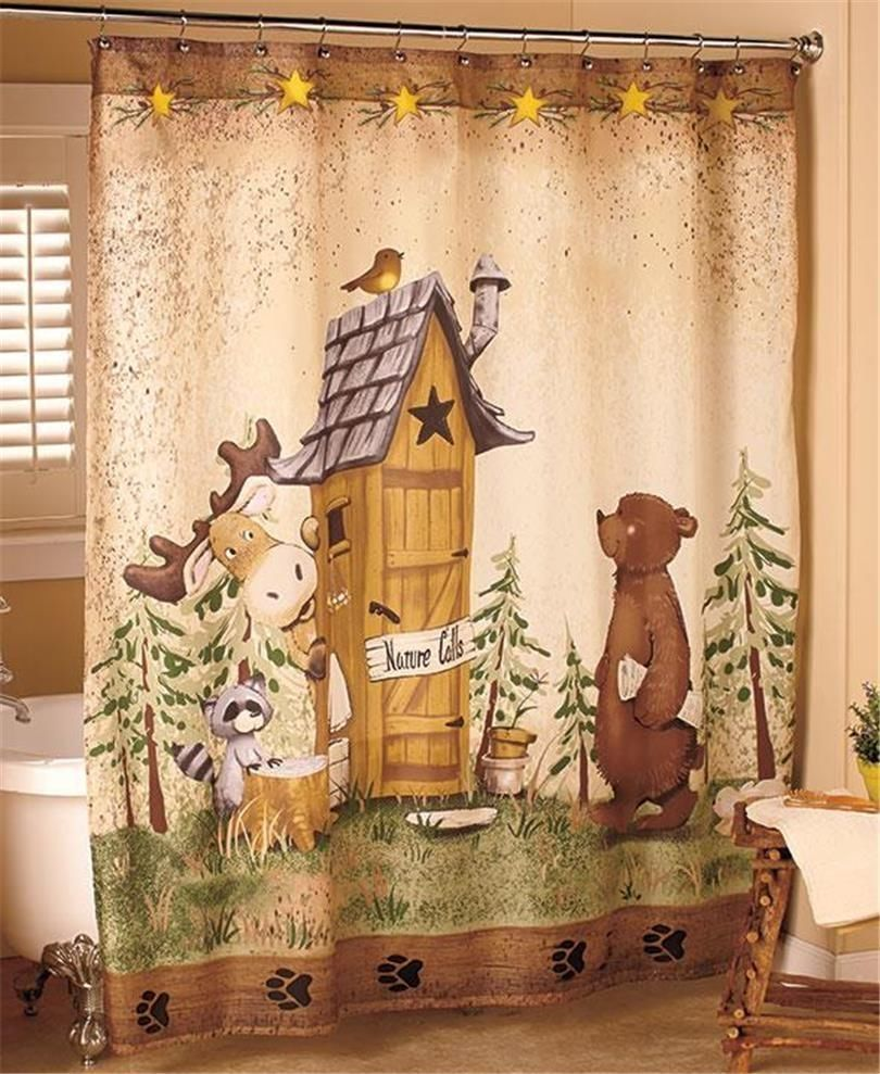 Moose Themed Shower Curtains