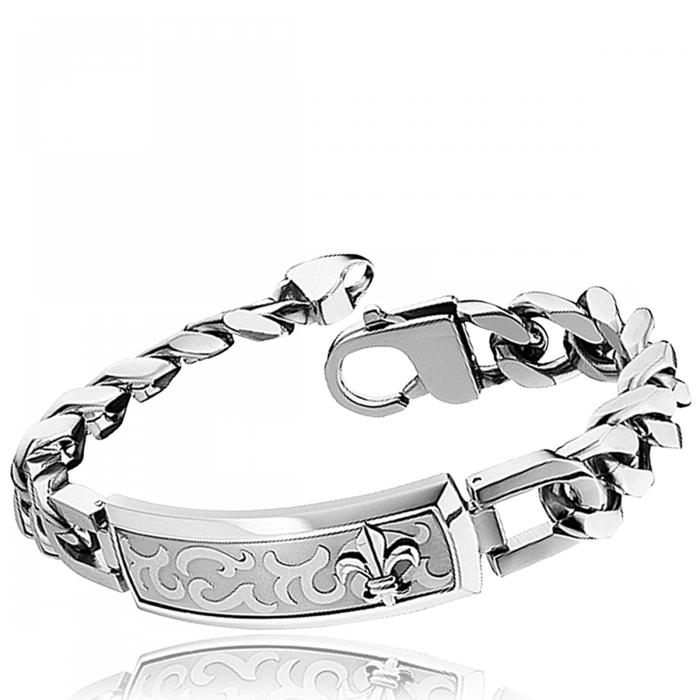 Men stainless steel Emperor bracelets , Police Gourmette Homme, Bracelet  Femme, Bijoux Homme,