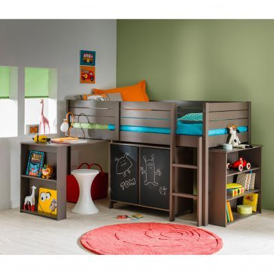 lit sur lev pour chambre enfant en pin massif d s 6 ans. Black Bedroom Furniture Sets. Home Design Ideas