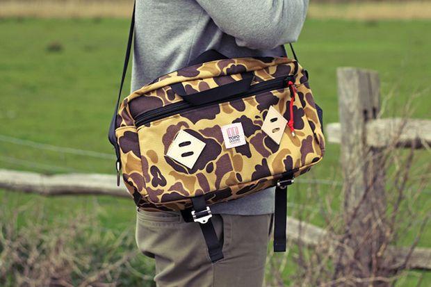 Topo Designs Duck Camo Mini Mountain Bag.