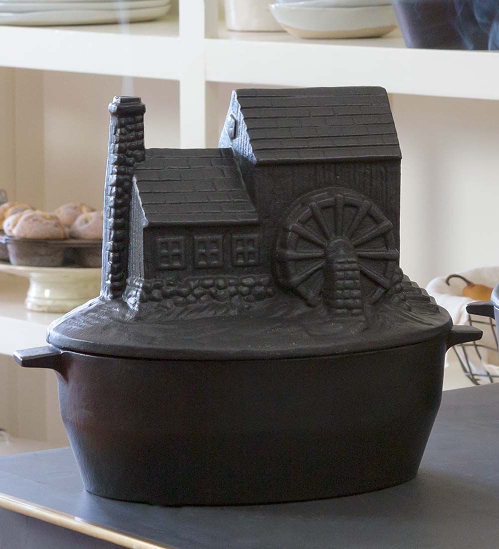Cast Iron Grist Mill Wood Stove Steamer Woodstove
