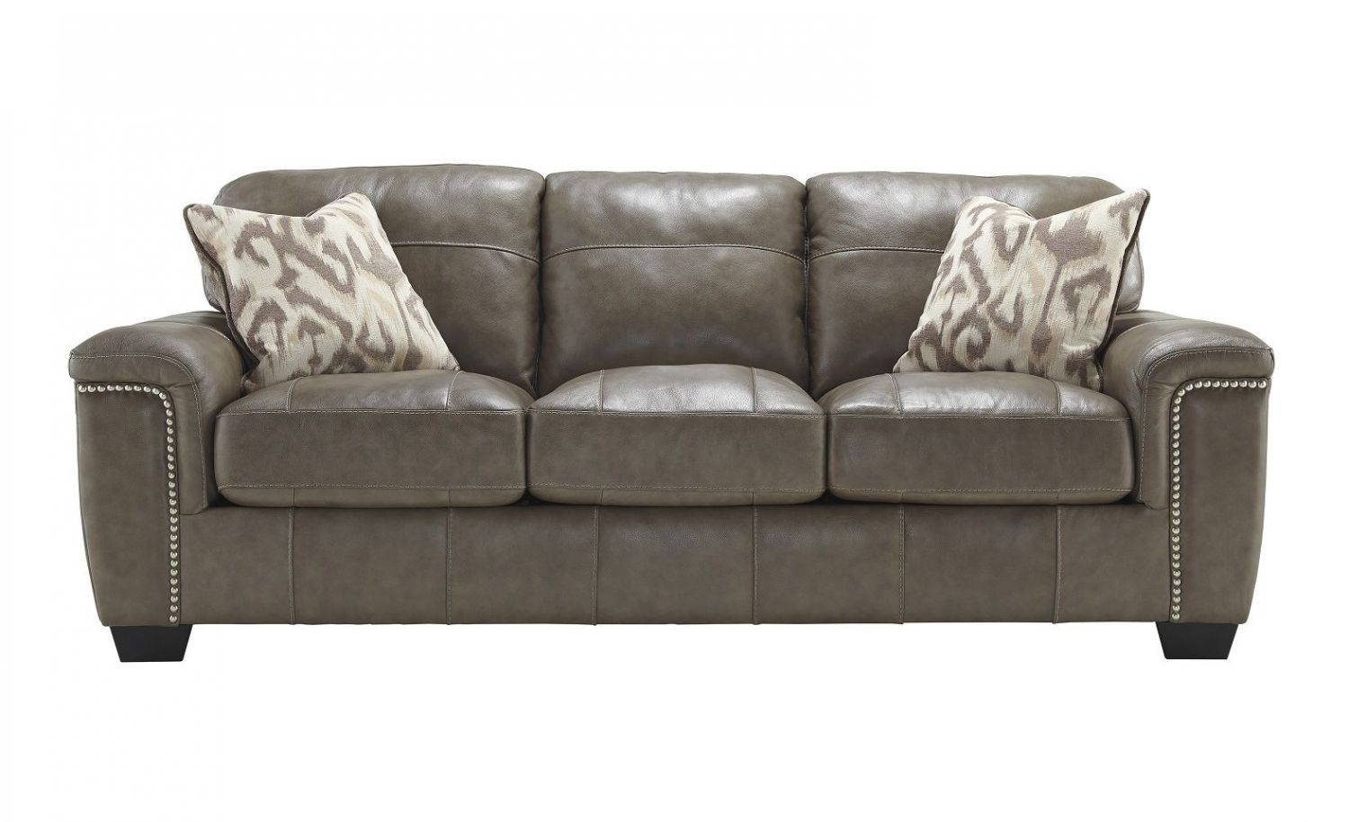 Donnell Granite Leather Sofa With