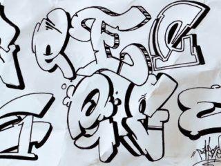 Graffiti Alphabet E Hand Styles Graff Characters Graffiti
