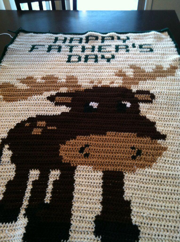 Crochet moose blanket   Crochet   Pinterest