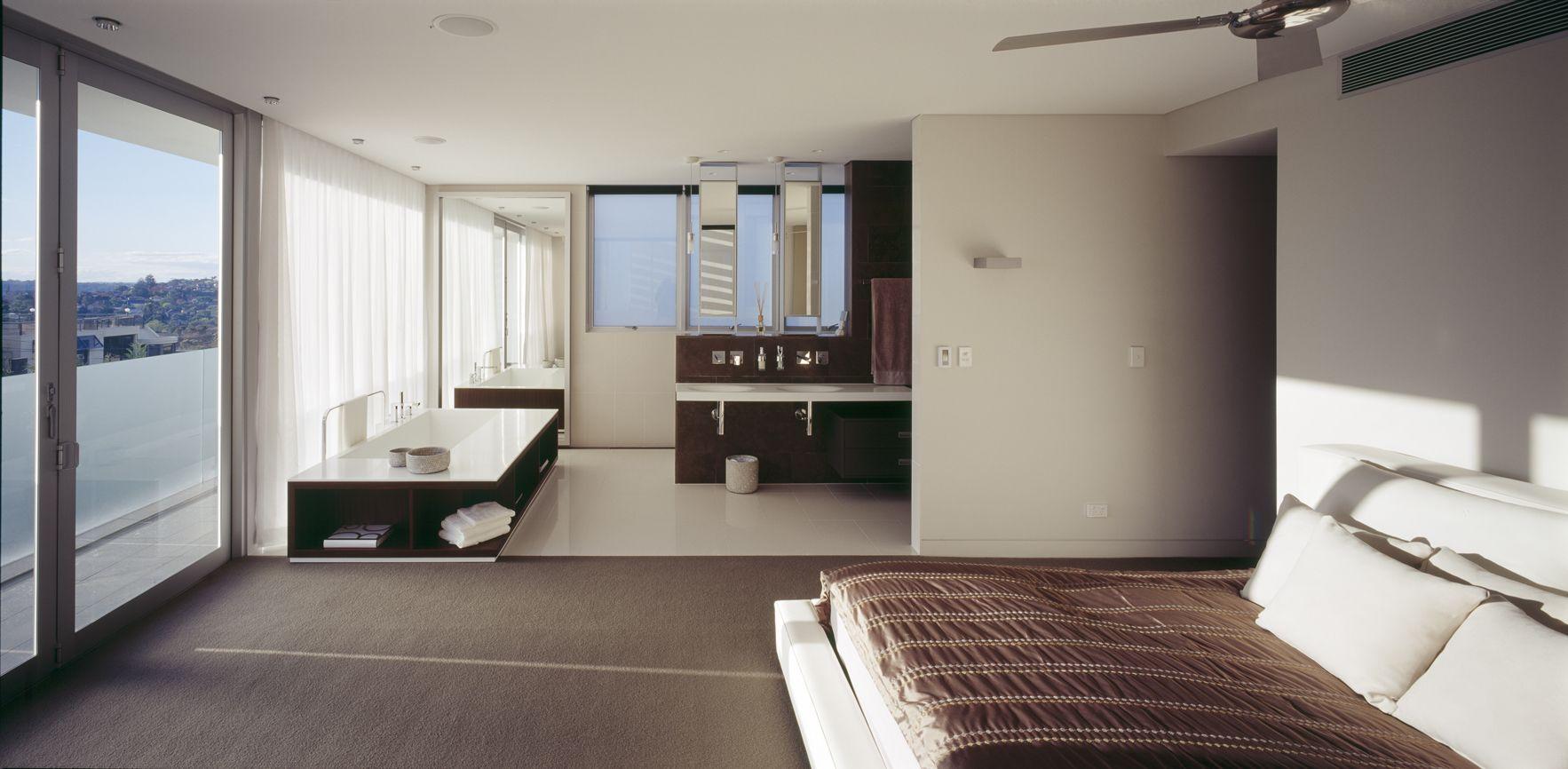Open Plan Bathroomminosa Designfeatures The Scooped Extraordinary Ensuite Bathroom Design Plans Review