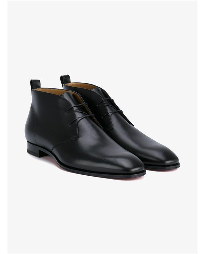 new products da0cb 201de CHRISTIAN LOUBOUTIN Milan Flat Leather Shoes ...