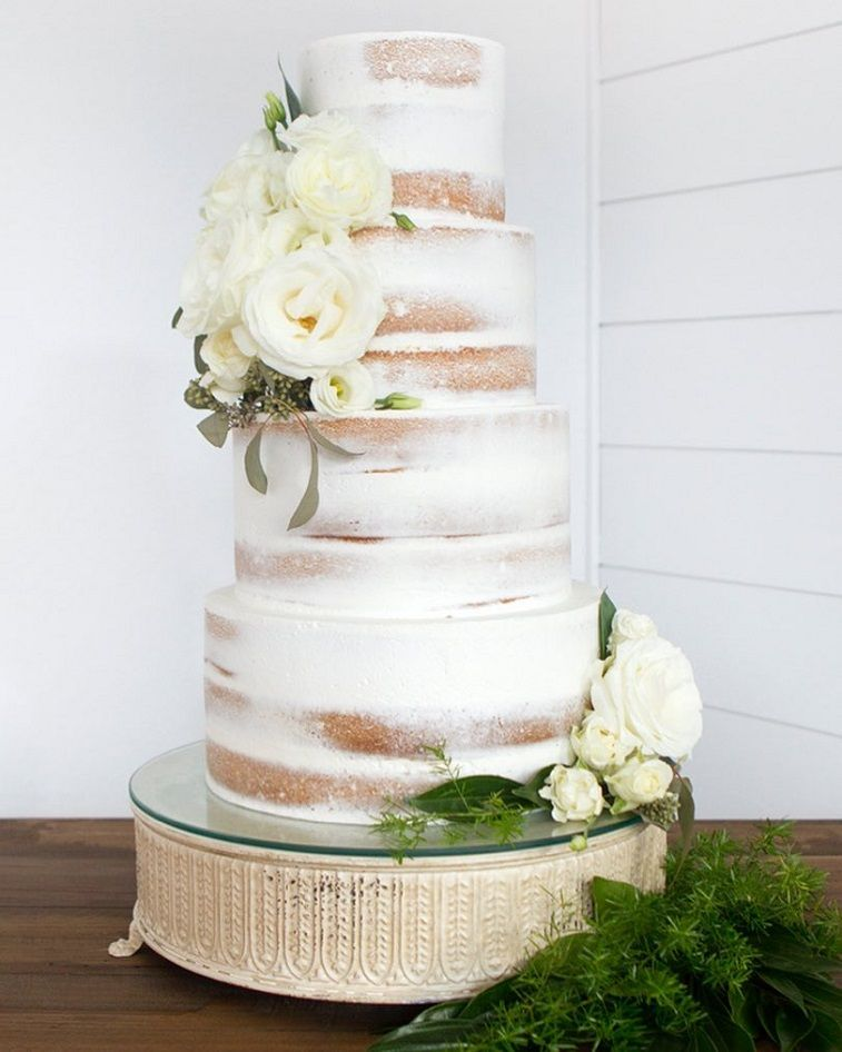 different kinds of wedding cakes wedding cake adorned with white flowers fabmood 13520