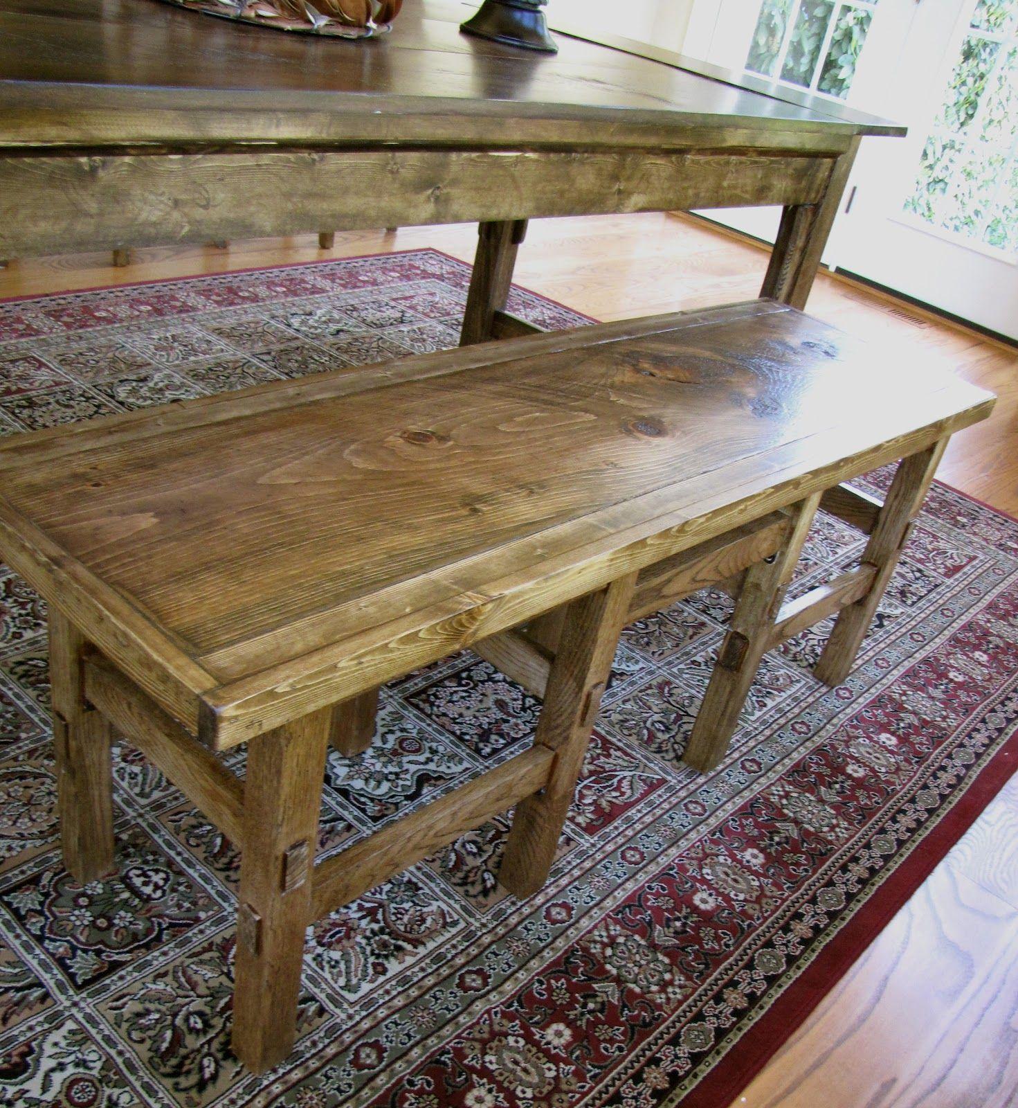 farmhouse bench farmhouse table with bench diy dining room table farmhouse bench diy on farmhouse kitchen table diy id=63583
