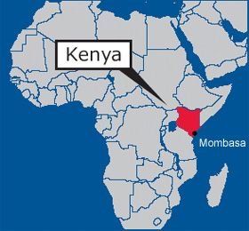 Map of Africa and the geographical location | Mombasa | Mombasa