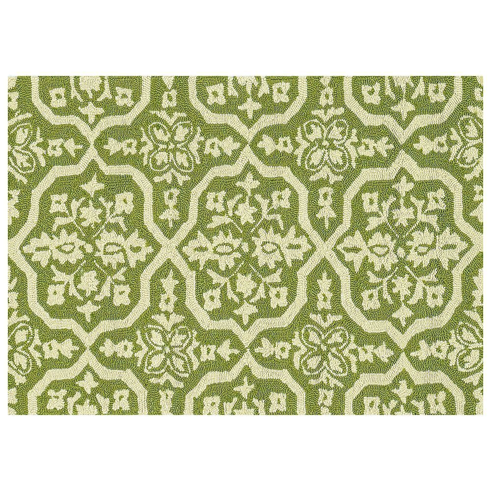 Loloi venice beach floral indoor outdoor rug green