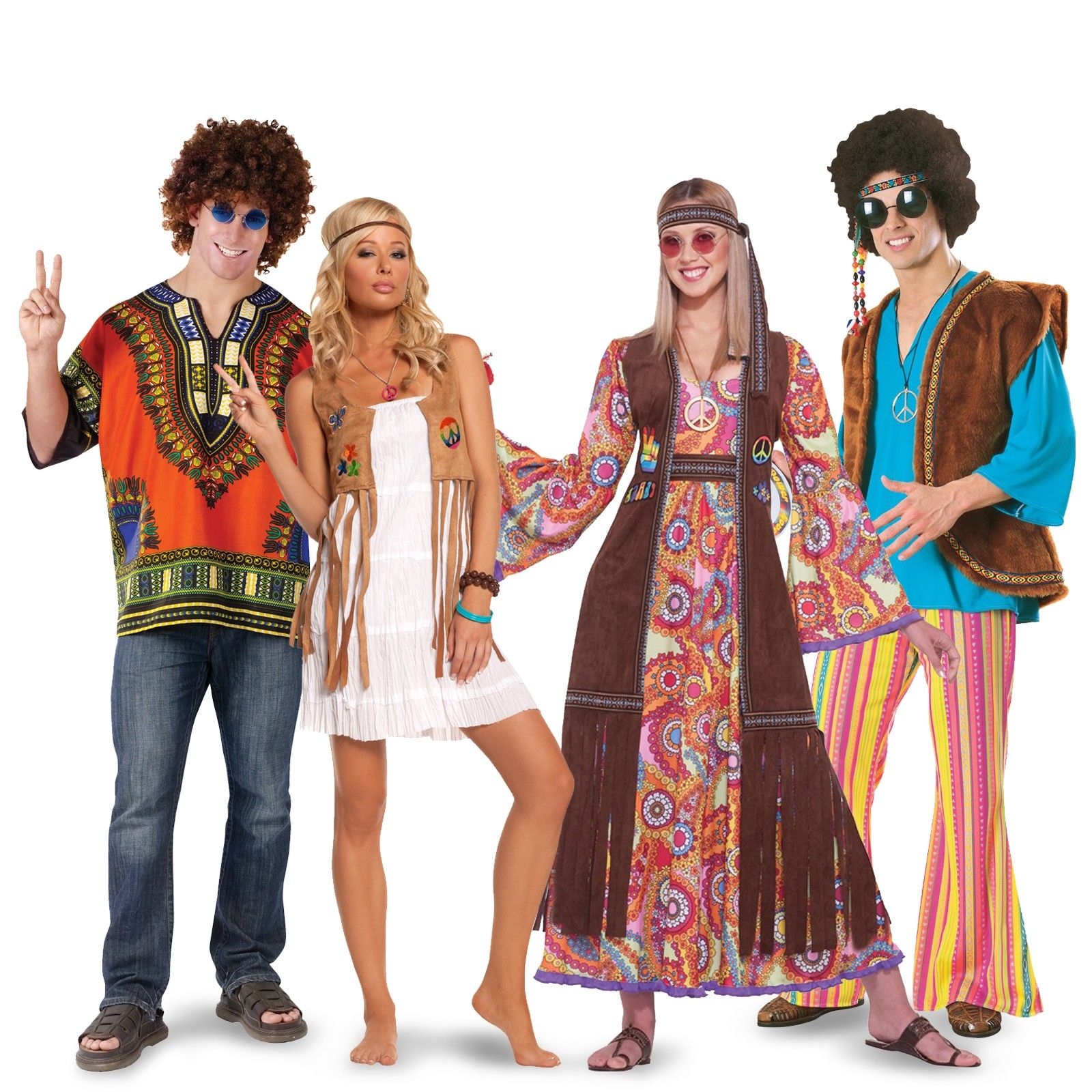 Peace and Love Hippie Costume For Adults