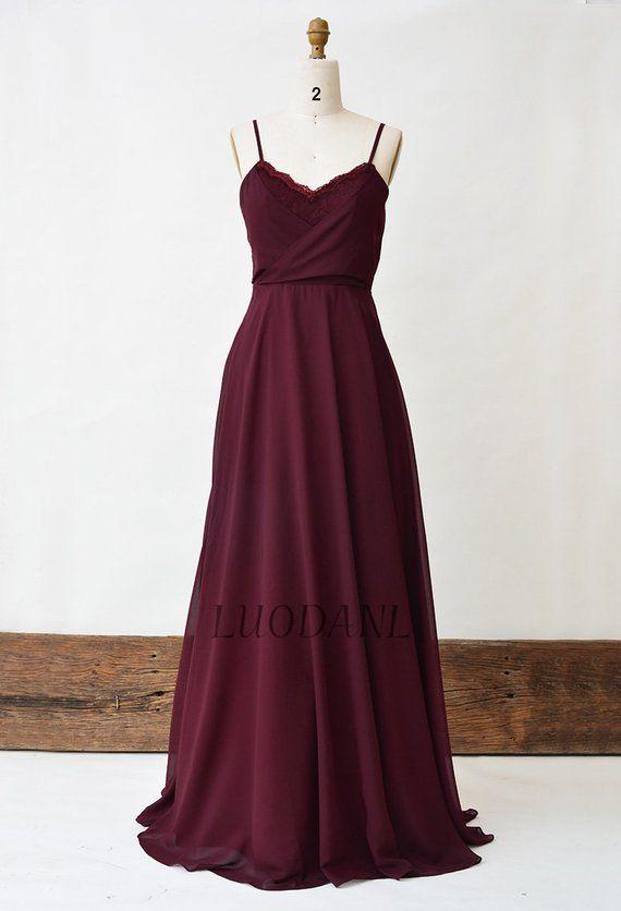 7fdf4d2605 Burgundy Bridesmaid Dress