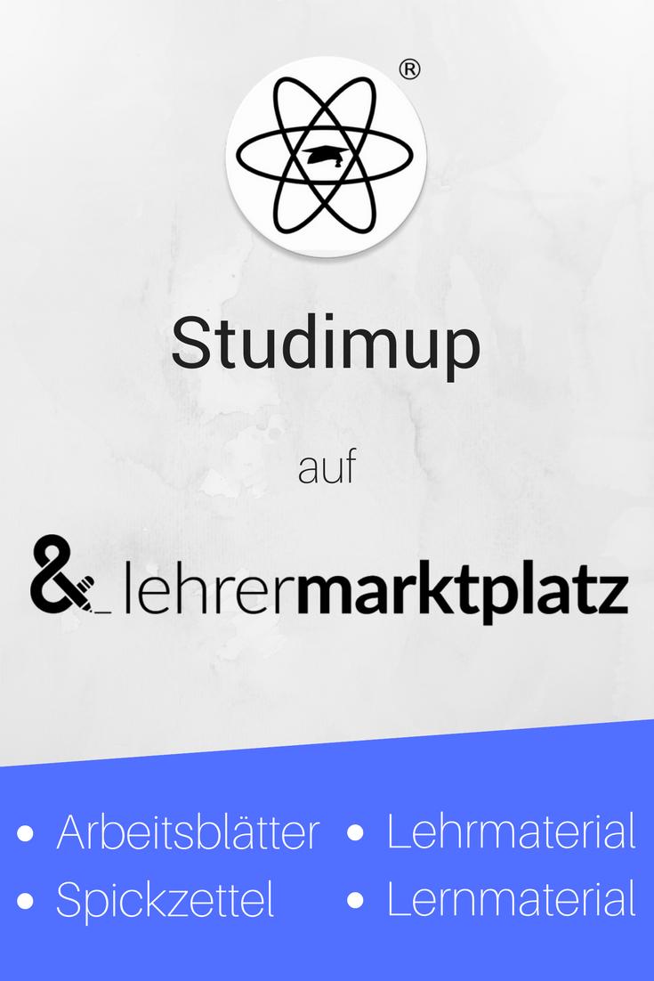 Studimup ist jetzt auch auf lehrermarktplatz vertreten! Dort findet ...