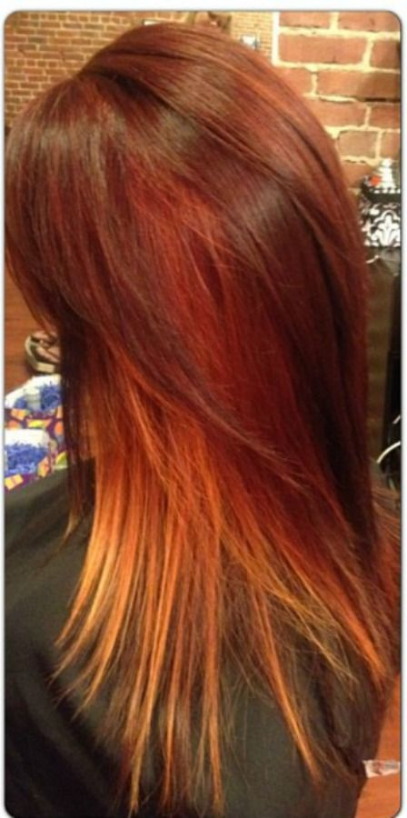 Color #hair | Balayage hair, Cool hairstyles, Orange ombre ...