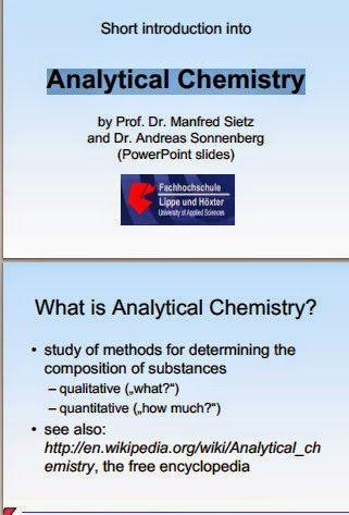 Analytical Chemistry-Free chemistry books chemistry books