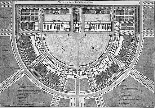 Claude-Nicolas Ledoux's La ville de Chaux (1804)