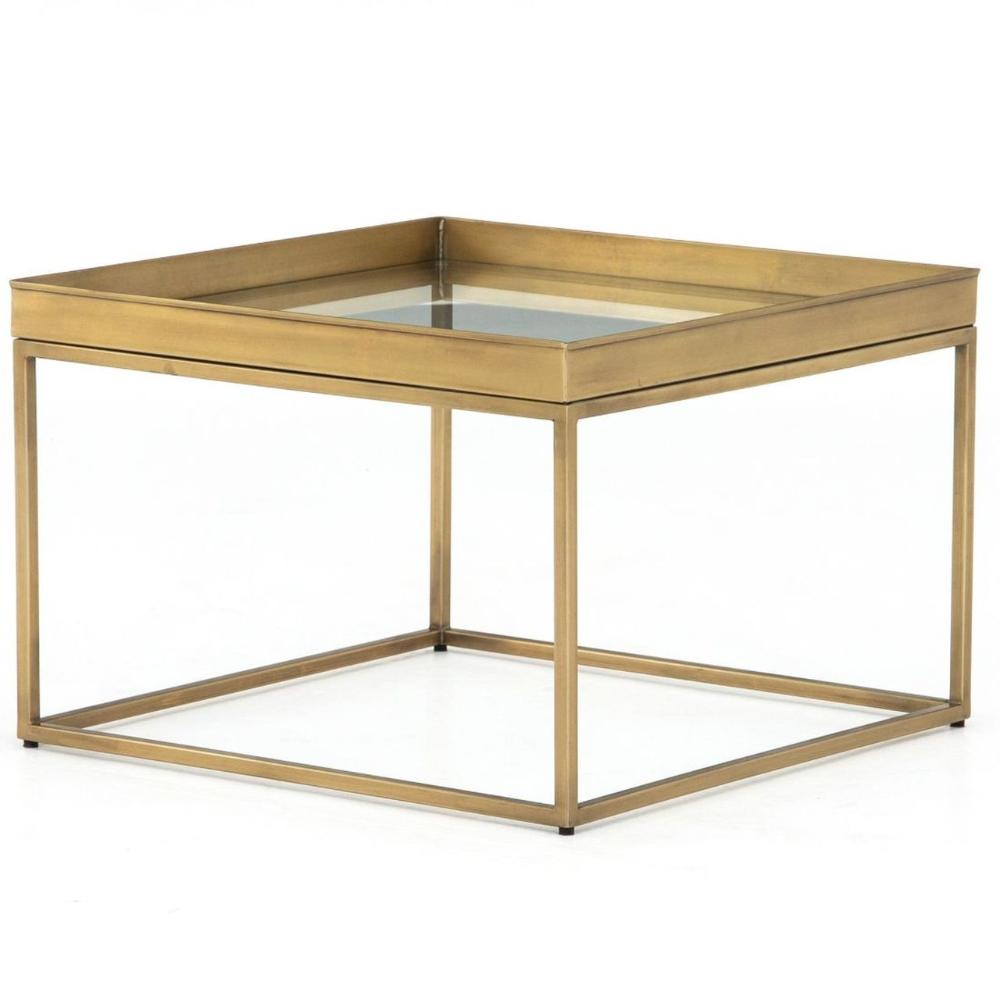 Kline Antique Brass Square Bunching Coffee Table 24 Brass Coffee Table Coffee Table Square Solid Oak Coffee Table [ 1000 x 1000 Pixel ]