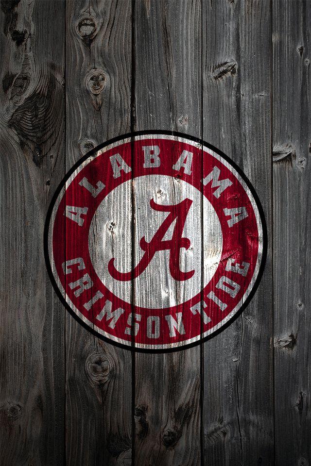 bama pics for football Alabama Crimson Tide Logo on Wood
