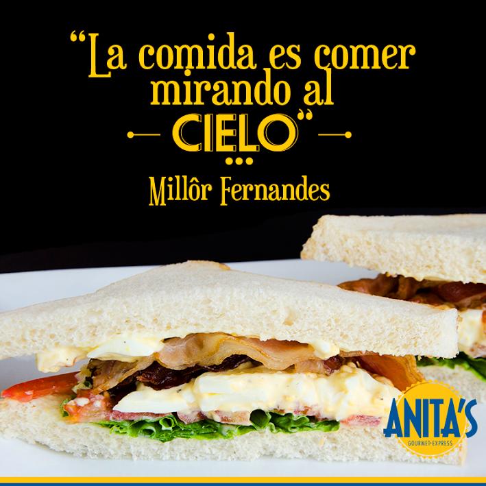 """""""Gastronomia é comer olhando pro céu """" La comida es comer mirando al cielo por (Millôr Fernandes)"""
