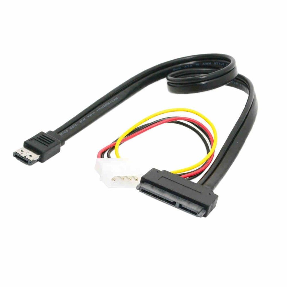 Power E Satap To 22pin Sata Ide Molex Combo Cable For 25 3 Wire Harness 35 External Hard Drive 50cm