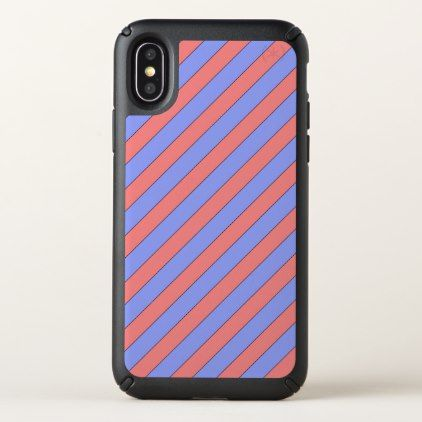 Diagonal stripe pink and purple speck iphone x case solutioingenieria Choice Image