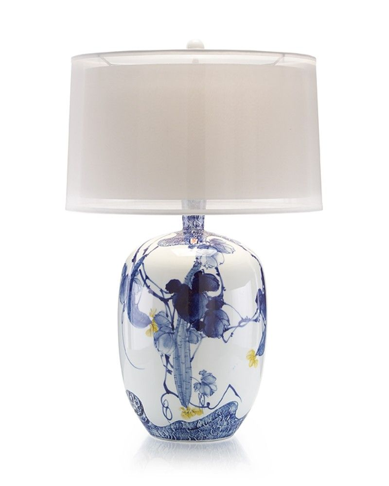 Blue modern table lamp - Blue Asian Gardens Table Lamp Portable Lighting Lighting Our Products