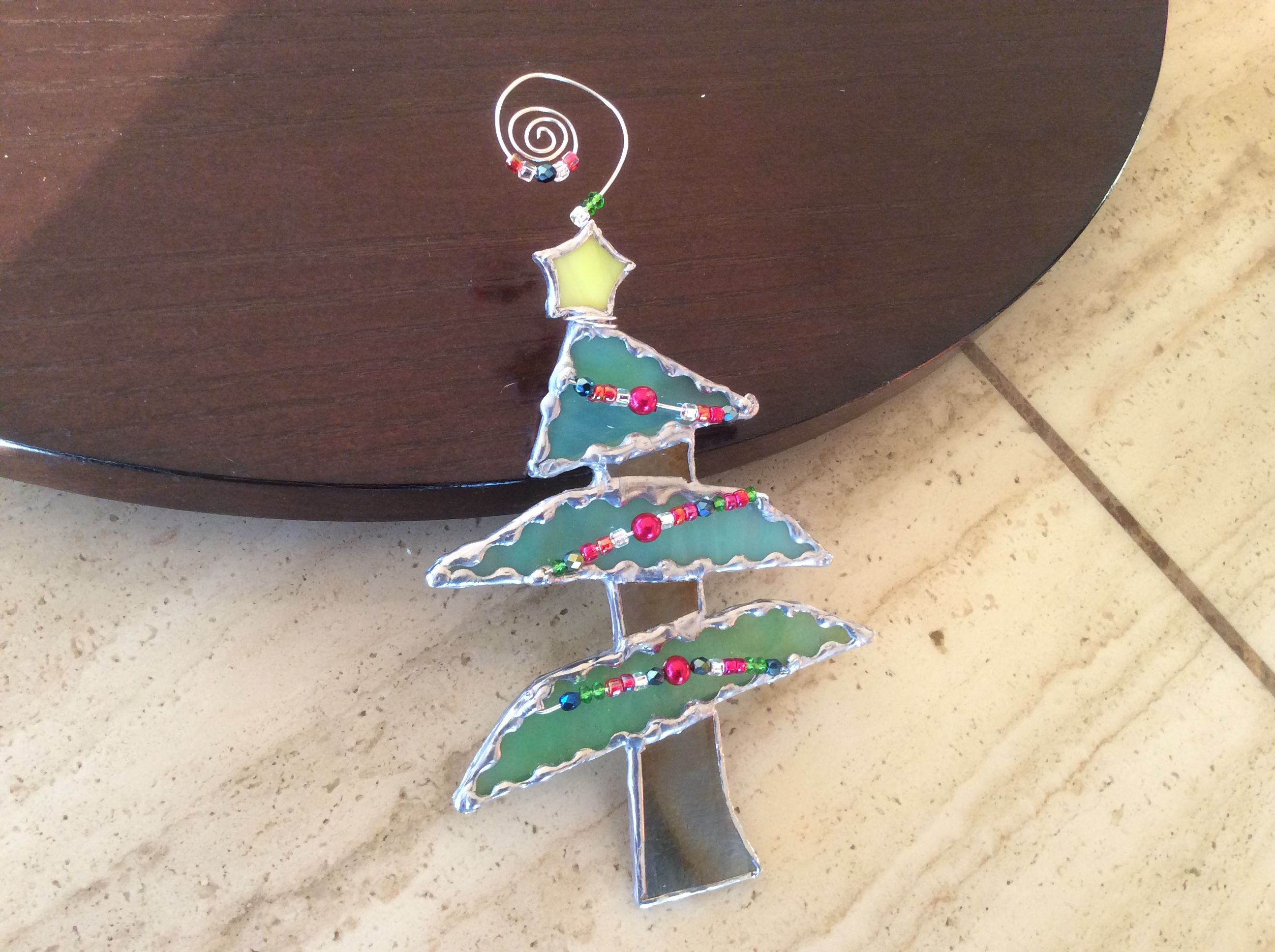 Stained Glass ~ Whimsical Tree Ornament