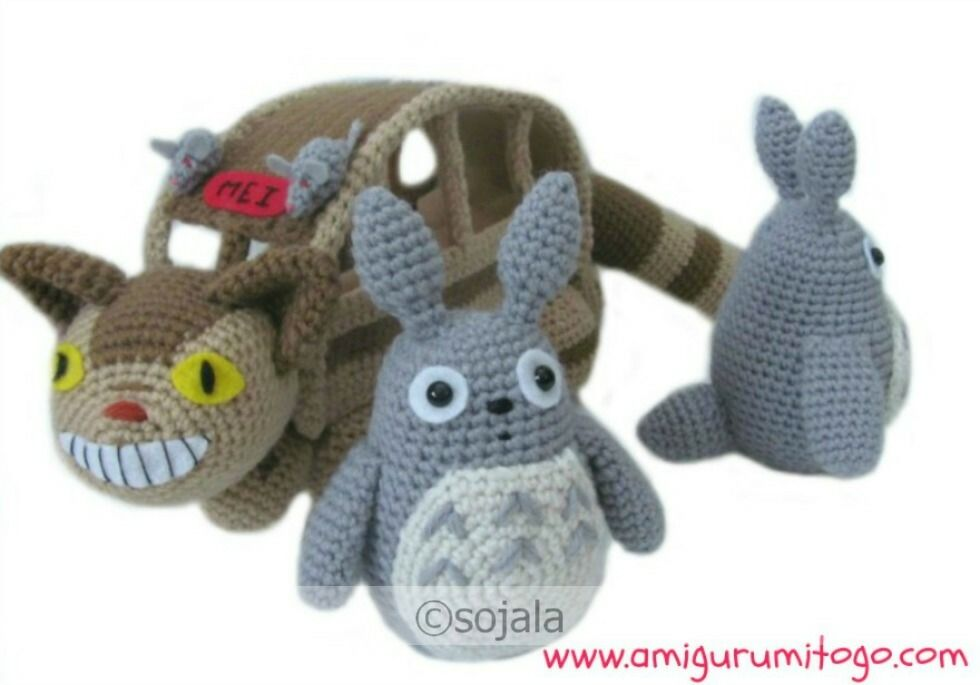 Free Amigurumi Cat : Totoro and the cat bus free crochet pattern and tutorial by