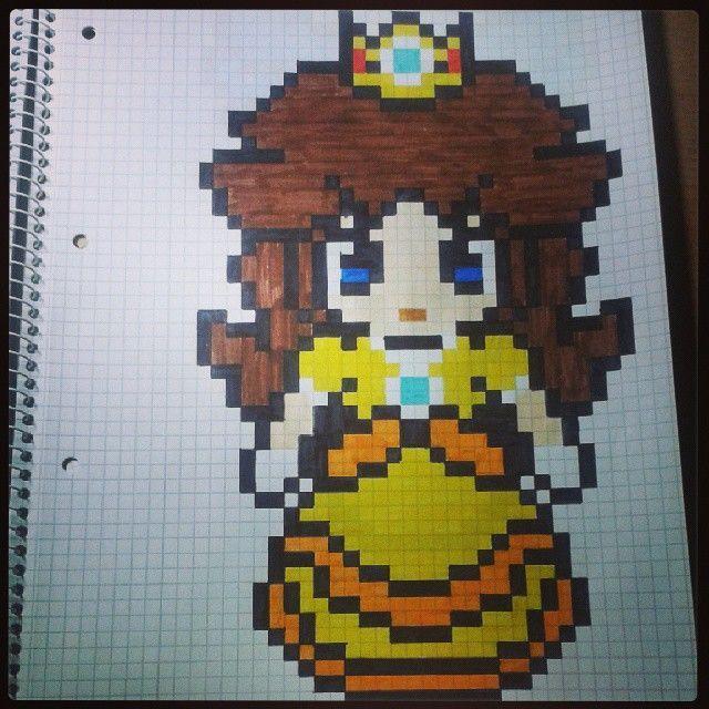 Princess Daisy Perler Bead Pattern By Pixel Art Mario