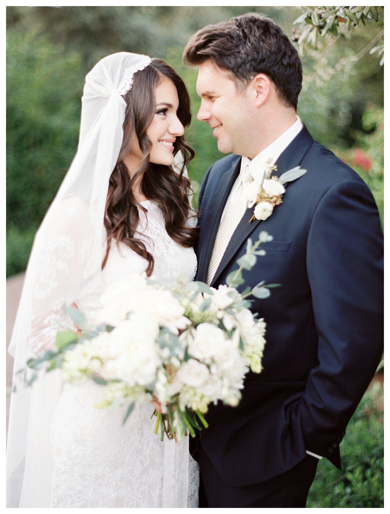 Juliet veil lace wedding gown navy tux eucalyptus rachel
