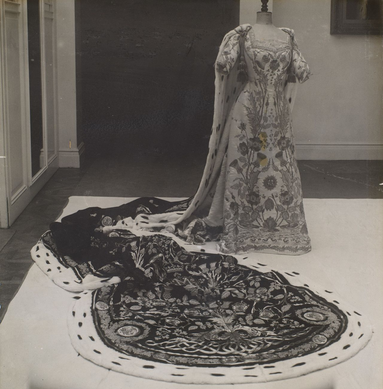 The coronation robes of Queen Mary of the United Kingdom