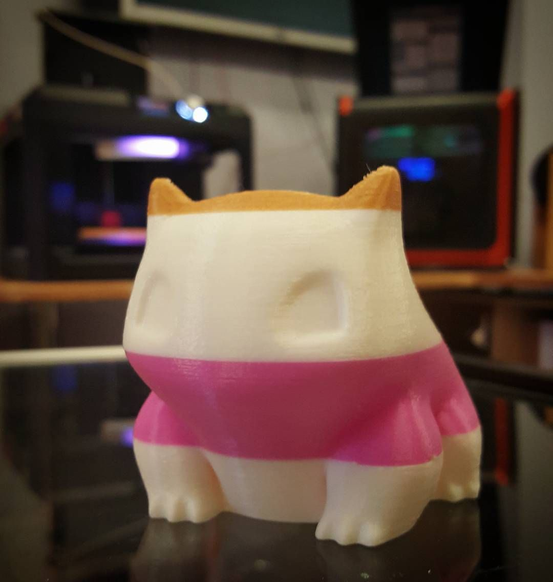 Getting creative to use up the rest of a few filament spools! Bulbasaur never looked so fancy  by 3dcentralva