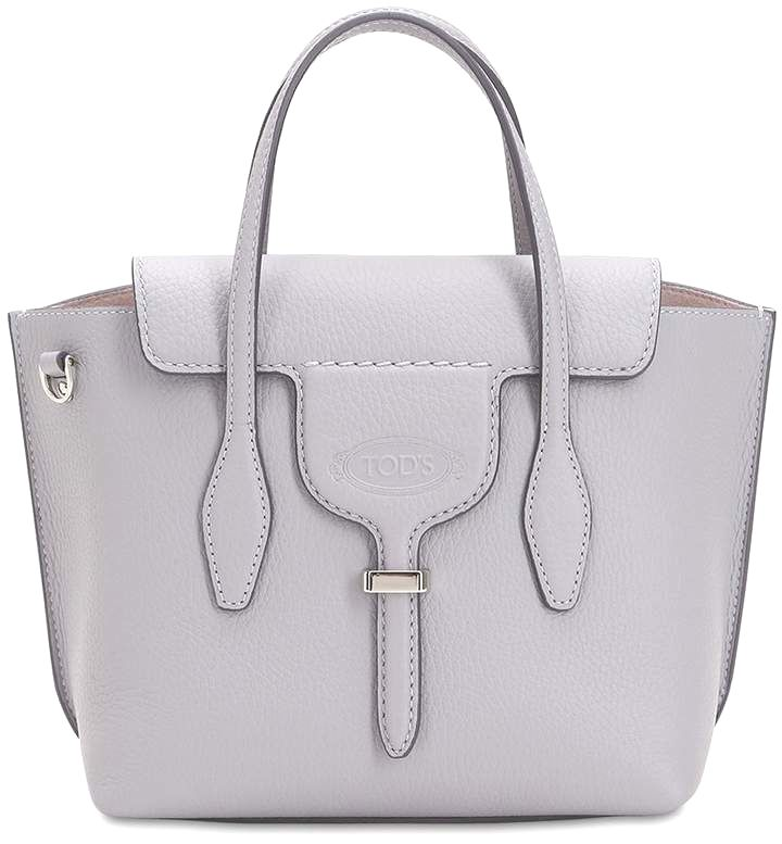 4dd07b286 $1,265 TOD'S, Small #Leather Top Handle Bag. Available Colors: LIGHT GREY  ,BLACK #bags #handbags #handle #shoulderbag #bolsa #style #tods #affiliate  ...