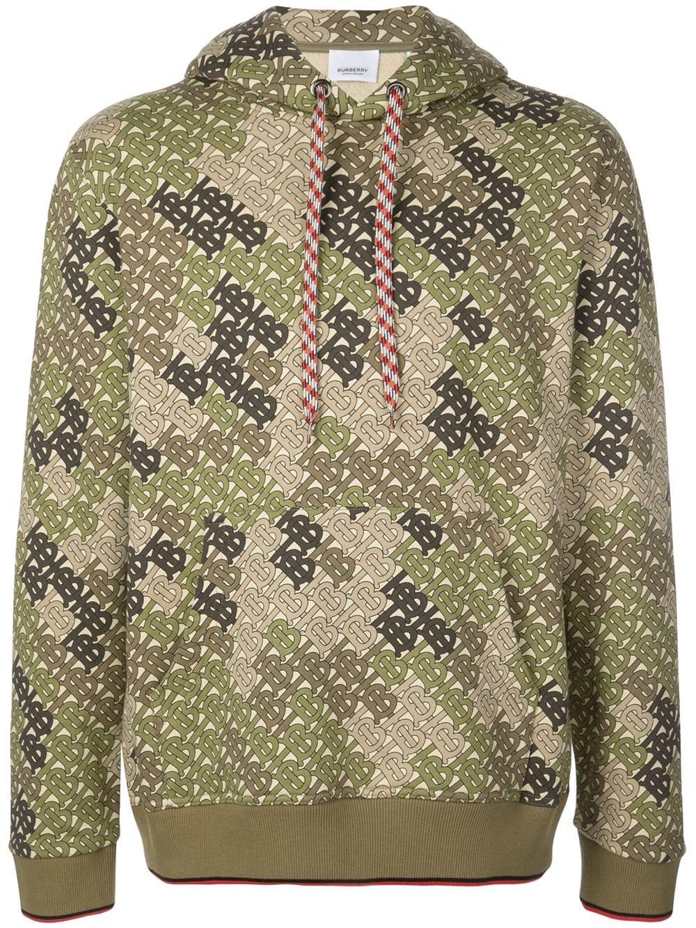 Burberry Burberry Monogram Print Hoodie Green Burberry Cloth Hoodie Print Hooded Sweatshirts Camouflage Hoodie [ 1334 x 1000 Pixel ]