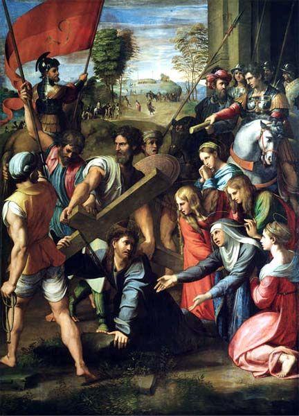 El Pasmo de Sicilia.  Pintado por Rafael Sanzio, en 1515.