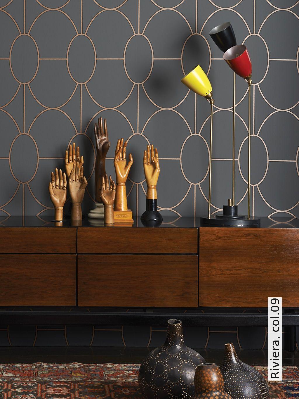 riviera wohnzimmer pinterest tapeten wohnzimmer und schlafzimmer tapete. Black Bedroom Furniture Sets. Home Design Ideas