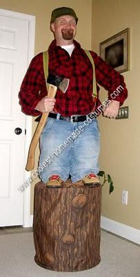 Homemade Little Paul Bunyan Optical Illusion Halloween Costume Idea: My Homemade Little Paul Bunyan Optical Illusion Halloween Costume Idea came about as I pondered all the cool illusionary costumes I've seen over the years.