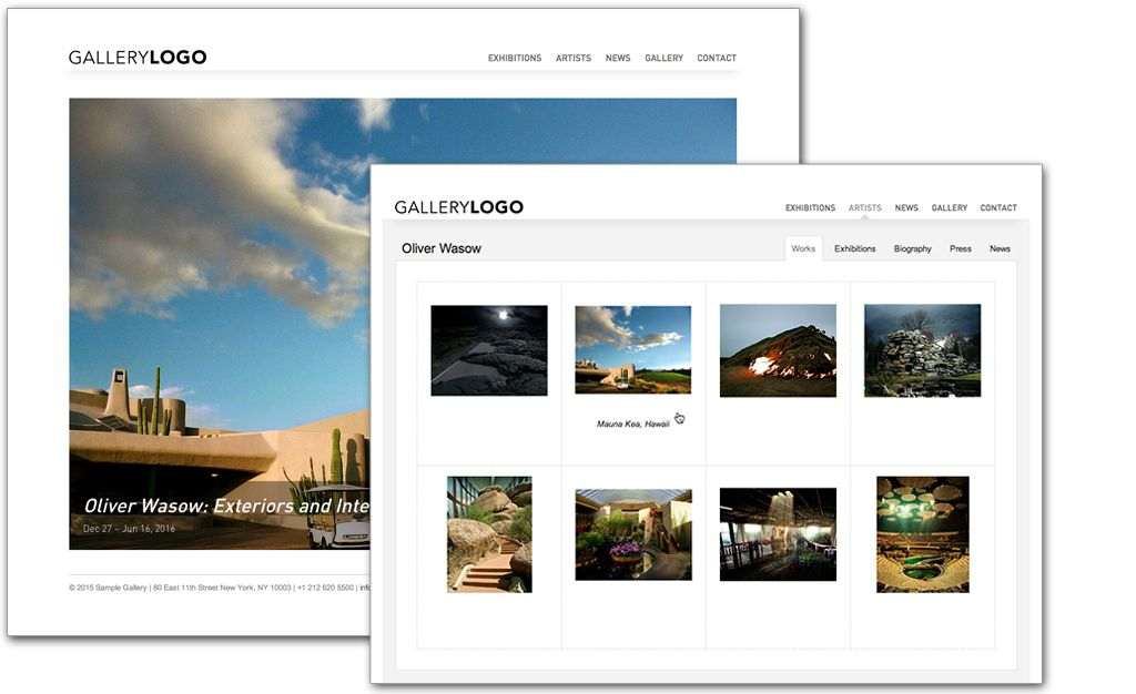 Update Your Art Collection Or Art Gallery Website Automatically Add - Online art gallery website template